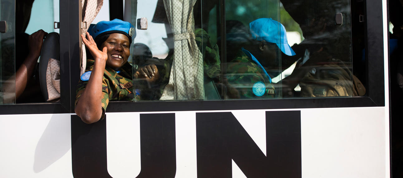 UNMIL peacekeeping troops withdraw from Liberia. UN photo/Albert Gonzalez Farran.