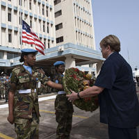 Marking the International Day of United Nations Peacekeepers in Monrovia, Liberia.
