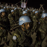 Brazilian peacekeepers serving with the United Nations Stabilization Mission in Haiti (MINUSTAH).